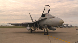 HD2009-6-7-7 apron F18 zoom Stock Video Footage