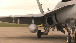 HD2009-6-7-11 apron F18s montage Stock Video Footage