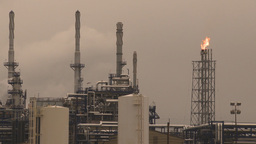 HD2009-6-7-27 refinery flare stack Stock Video Footage