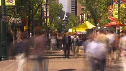 HD2009-6-8-1 people on mall TL Stock Video Footage