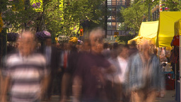 HD2009-6-8-3 people on mall TL trippy slow Stock Video Footage