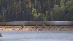 HD2009-6-8-15 train on river tl slow Footage