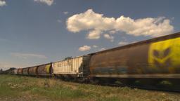 HD2009-6-8-23 frieght train Stock Video Footage