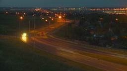HD2009-6-8-25 traffic TL night Stock Video Footage