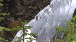 HD2009-6-9-18 water fall snow and green slowmo Stock Video Footage