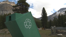 HD2009-6-9-30 recycle bin mtns Stock Video Footage