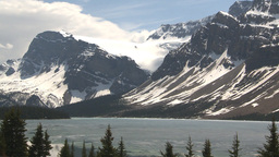 HD2009-6-9-38 Bow lake and glacier Stock Video Footage