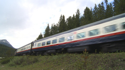 HD2009-6-10-7 passenger train Stock Video Footage