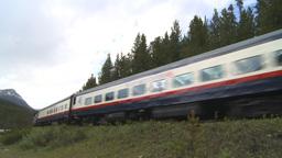 HD2009-6-10-7 passenger train Stock Video Footage