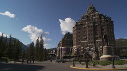 HD2009-6-11-9RC Banff Springs hotel Stock Video Footage