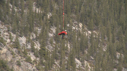 HD2009-6-11-19RC 60i Banff Heli rescue Stock Video Footage