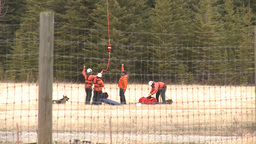 HD2009-6-11-21RC 60i Banff Heli rescue Stock Video Footage