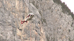 HD2009-6-11-25RC 60i Banff Heli rescue Stock Video Footage