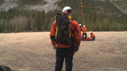 HD2009-6-11-27RC 60i Banff Heli rescue Stock Video Footage