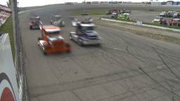 HD2009-6-12-2 Big rig race Stock Video Footage