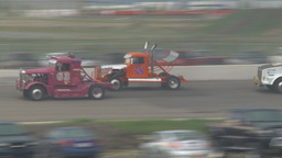 HD2009-6-12-4 Big rig race chequer Footage