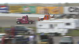 HD2009-6-12-4 Big rig race chequer Stock Video Footage
