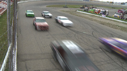 HD2009-6-12-8 stock car race Stock Video Footage