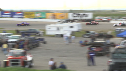 HD2009-6-12-10 stock car race Stock Video Footage