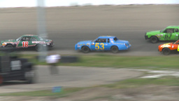 HD2009-6-12-12 stock car race Stock Video Footage