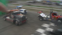 HD2009-6-12-14 Big rig race Stock Video Footage