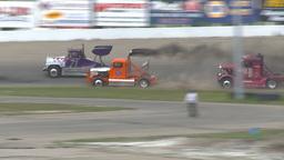 HD2009-6-12-16 Big rig race Stock Video Footage