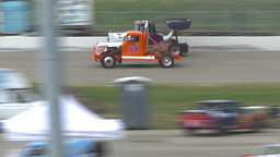 HD2009-6-12-16 Big rig race Stock Video Footage