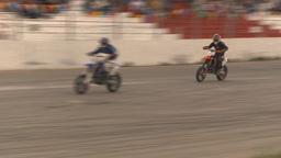HD2009-6-12-18 motocross bike race Stock Video Footage