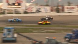 HD2009-6-12-20 stock car race hard crash Footage