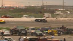 HD2009-6-12-20 stock car race hard crash Stock Video Footage