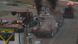 HD2009-6-12-22 big rig per race show Stock Video Footage