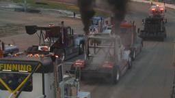 HD2009-6-12-22 big rig per race show Stock Video Footage
