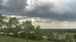 HD2009-6-17-2 Calgary WS pan with storm clouds Stock Video Footage
