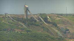 HD2009-6-17-4 COP ski jumps LLL Stock Video Footage