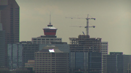 HD2009-6-18-2 skyline and cranes LLL Stock Video Footage