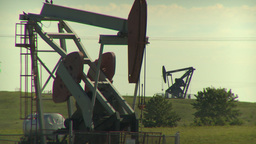 HD2009-6-19-4 pumpjack Stock Video Footage