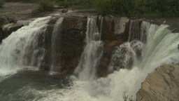 HD2009-6-19-34 Lundbreck falls Stock Video Footage