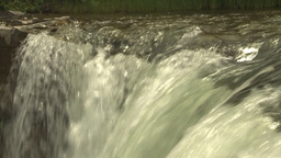 HD2009-6-20-2 Lundbreck falls Stock Video Footage