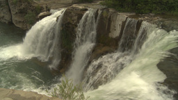 HD2009-6-20-4b Lundbreck falls Stock Video Footage