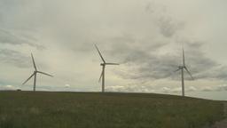 HD2009-6-20-18 wind turbines on ridge Footage