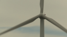 HD2009-6-20-20 single wind turbine cu Stock Video Footage