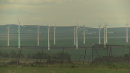 HD2009-6-20-32 wind turbines Stock Video Footage