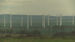 HD2009-6-20-32 wind turbines Stock Video Footage
