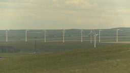HD2009-6-20-46 wind turbines Stock Video Footage