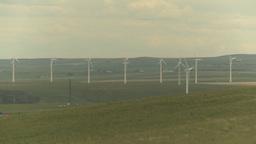 HD2009-6-20-46 wind turbines Stock Video Footage