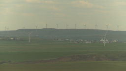 HD2009-6-20-48 wind turbines on ridge Footage