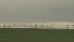 HD2009-6-20-50 wind turbines on ridge Footage
