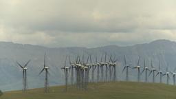 HD2009-6-20-56 wind turbines Stock Video Footage