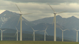 HD2009-6-20-58 wind turbines Stock Video Footage