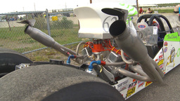 HD2009-6-21-4 drag idling RAD rear view Stock Video Footage